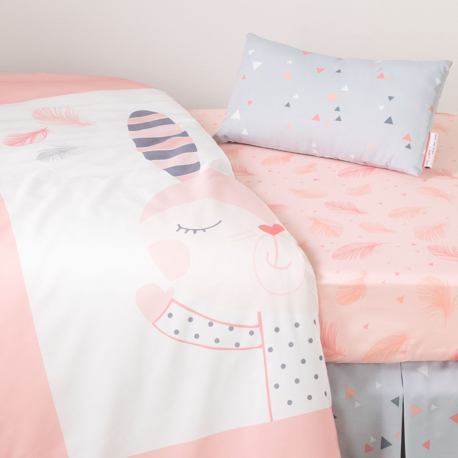 South Shore Doudou The Rabbit 3-Piece Baby Crib Bed Set and Pillow, Pink by South Shore (Image #1)