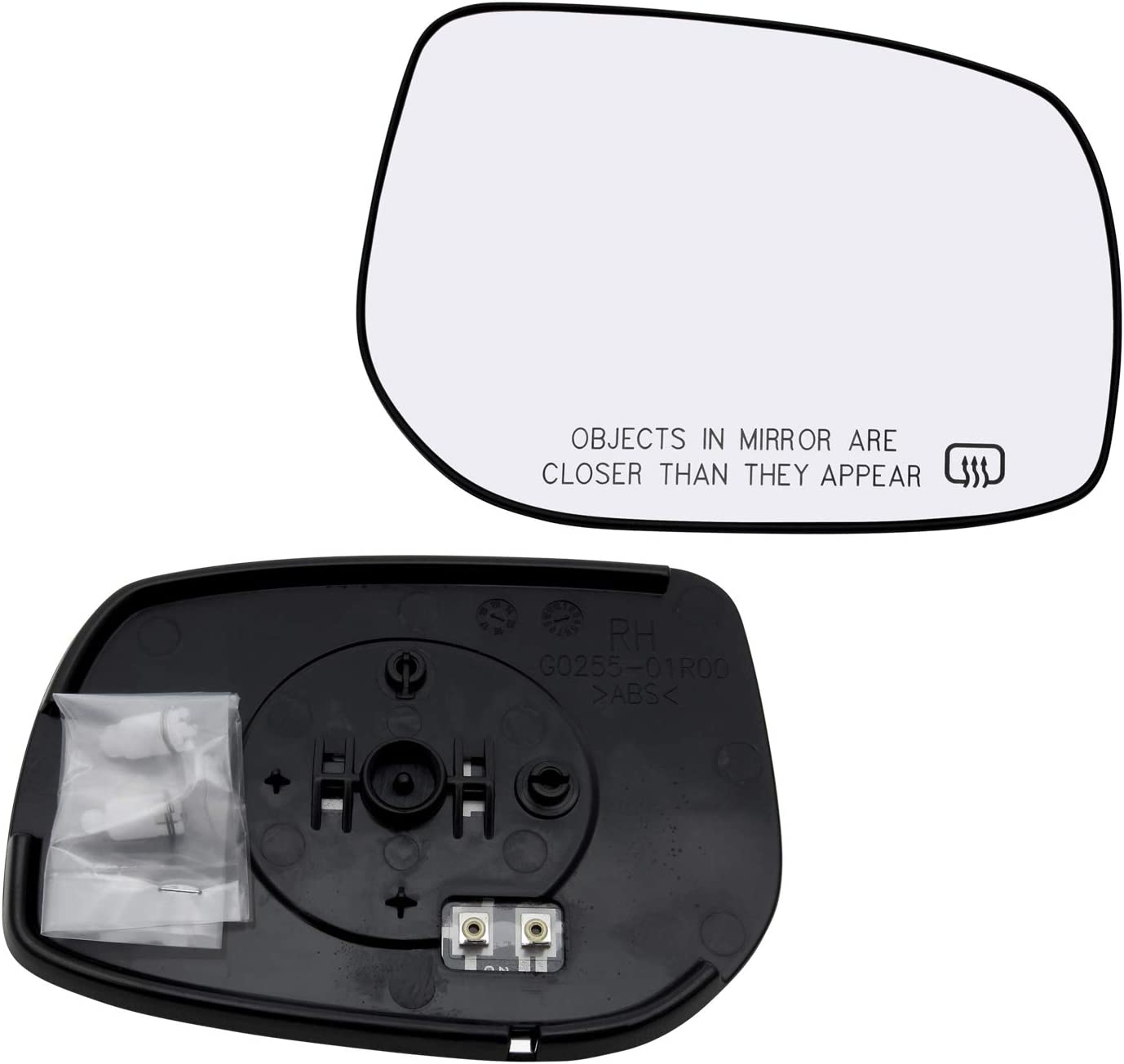 New Replacement Passenger Side Mirror Glass W Backing Compatible With 2009-2013 Toyota Corolla Matrix Sold By Rugged TUFF