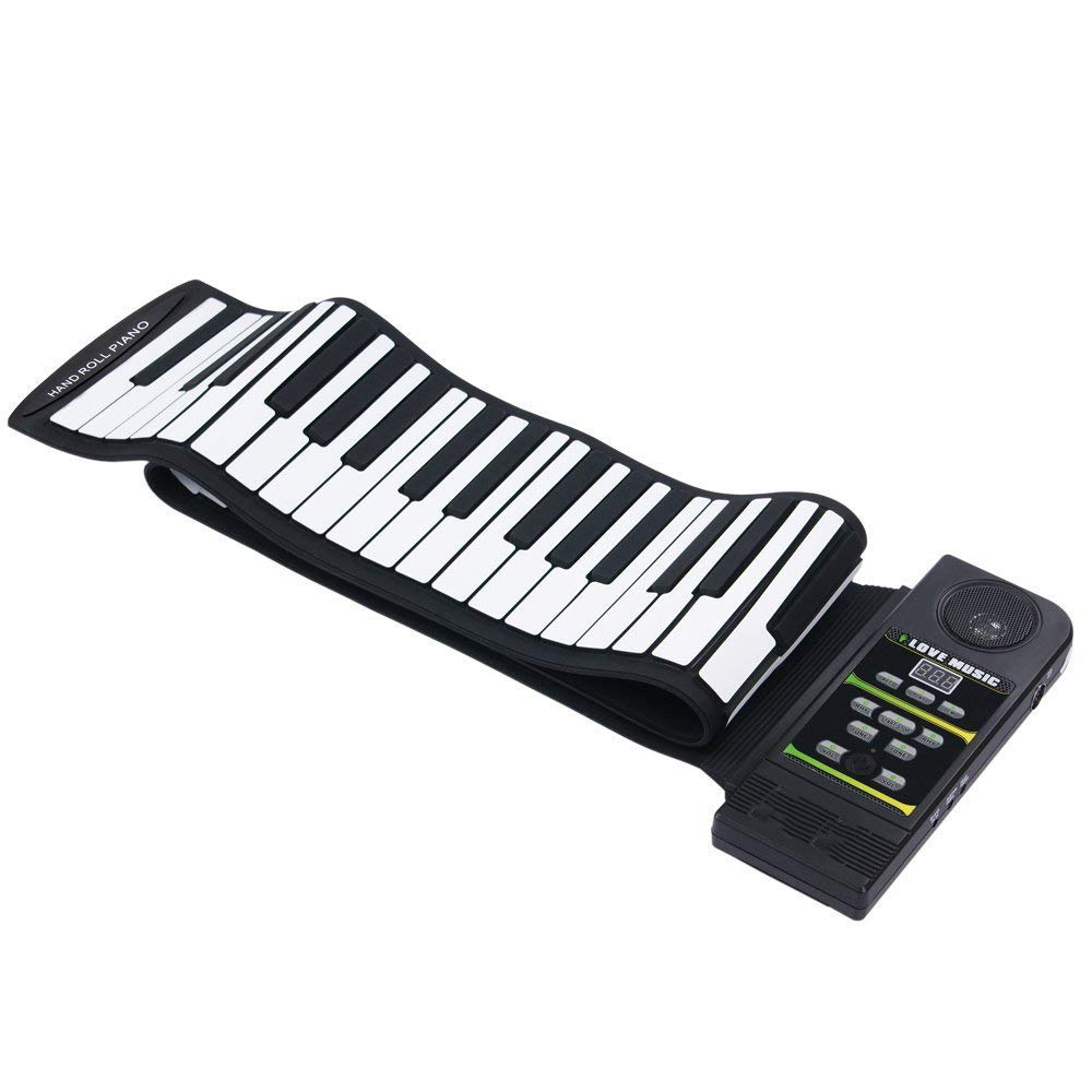 Electronic Hand Roll Piano Portable Folding 88 Keys Thickening Version Silicone Keyboard Children Adult Beginner Musical Instrument(Classic Version) by C Five (Image #1)