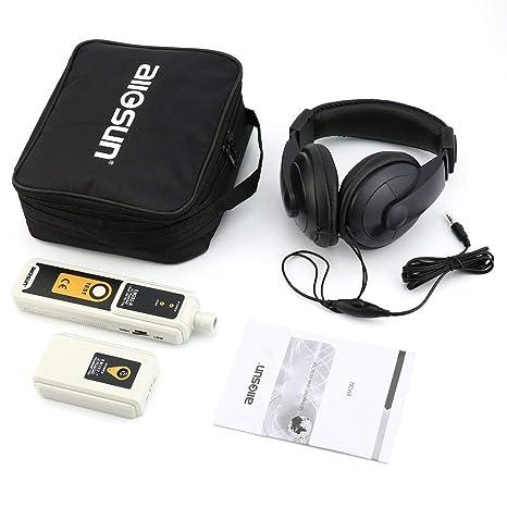 sdfghzsedfgsdfg Indicador de detección de gases fiable transmisor 40KHz detector de fugas Allsun EM282 ultrasónico de