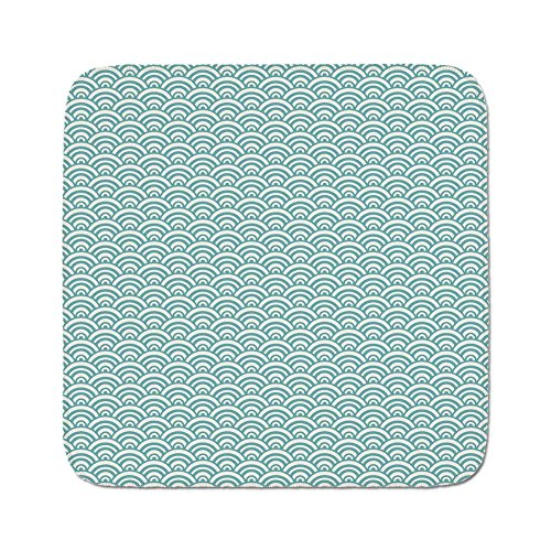 Cozy Seat Protector Pads Cushion Area Rug,Aqua,Curvy Lines Bubbles in High Seas Surfing Season Water Sports Oceanic Summertime,Sky Blue White,Easy to Use on Any Surface