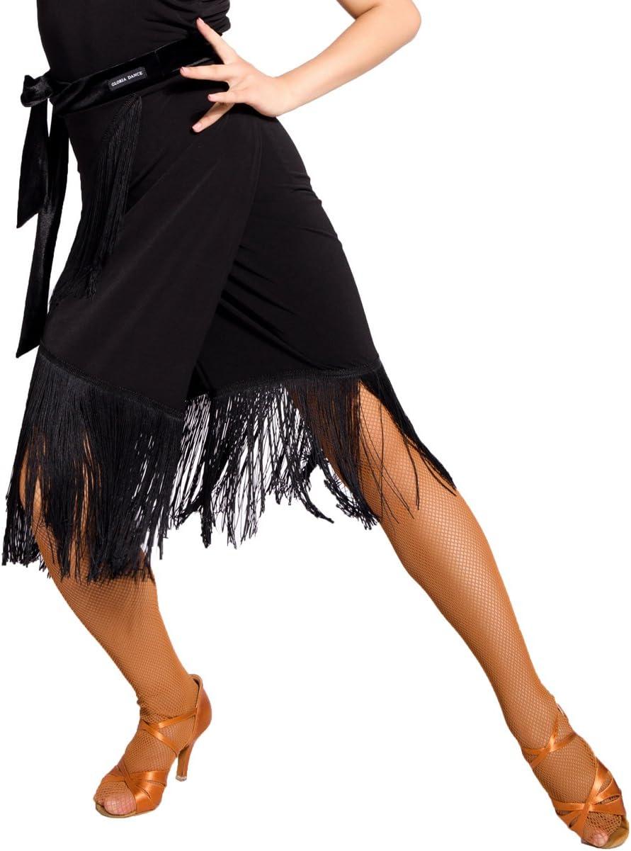 Stile Grembiule SCGGINTTANZ G2016 Latino Moderno Ballo da Danza Professionale la Gonna Swing Irregolare per lallenamento Quotidiano