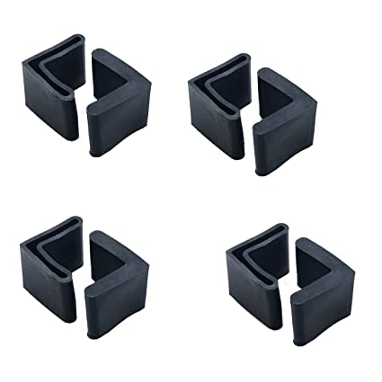 Flyshop Bed Frame End Caps Angle Iron Leg Black Rubber Foot Covers 2