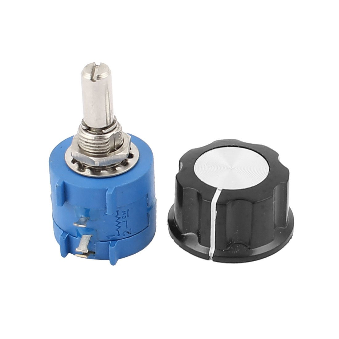 Uxcell a15081800ux0369 10K Ohm 6 mm Shaft Diameter Rotary Wire Wound Potentiometer with Knob