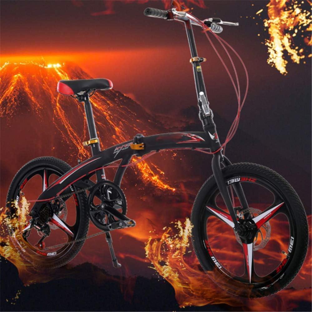 Jghjh Bicicleta Plegable con Frenos De Disco De, Adecuados para ...