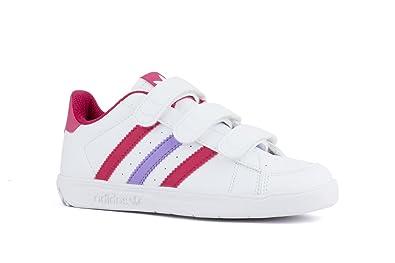 adidas , Mädchen Sneaker FtwwhtBopinkPink 32 EU 30 EU