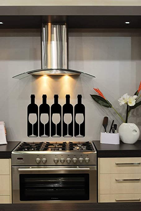 Amazon.com: Wine Decal Wine Bottle Decals Wine Glasses ...