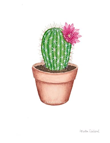 amazon com cactus art print cactus watercolor painting succulent