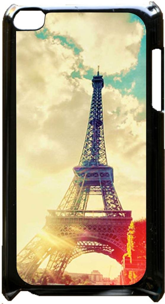 Eiffel Tower Case for the Apple Ipod 4th Generation-Hard Black Plastic