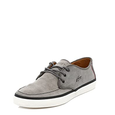 73e5525a8e22 Lacoste Mens Dark Grey Sevrin 5 Suede Boat Shoes  Amazon.co.uk  Shoes   Bags