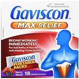 Gaviscon Max Berry- Long-lasting Acid Reflux and Heartburn Relief, 18 Count