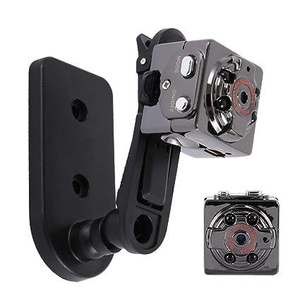 Wrighteu Mini Cámara Vigilancia Espía Oculta Videocámara 1080P HD Portátil Secreta Compacta con Detector de Movimiento