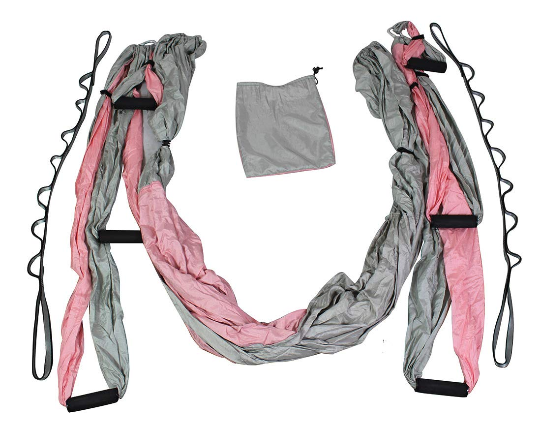 2 Extensions Straps Included Ultra Strong Antigravity Yoga Hammock//Trapeze//Sling//Inversion Tool for Air Yoga Inversion Exercises SLEEPINGKU Aerial Yoga Swing