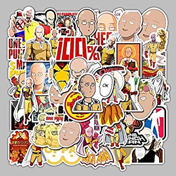 Inveroo 49 Unids/Pack Anime Japonés One Punch-Man Pegatinas de ...