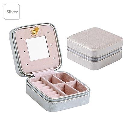 e25d9ad44755 Amazon.com: KIEJDH Travel Jewelry Organizer Box Cosmetic Makeup ...