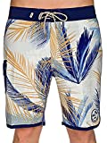 Best Van'an Mens Swimwear - Vans Men's Stretch Mixed Scallop Board Shorts-Blue/Multi-34 Review