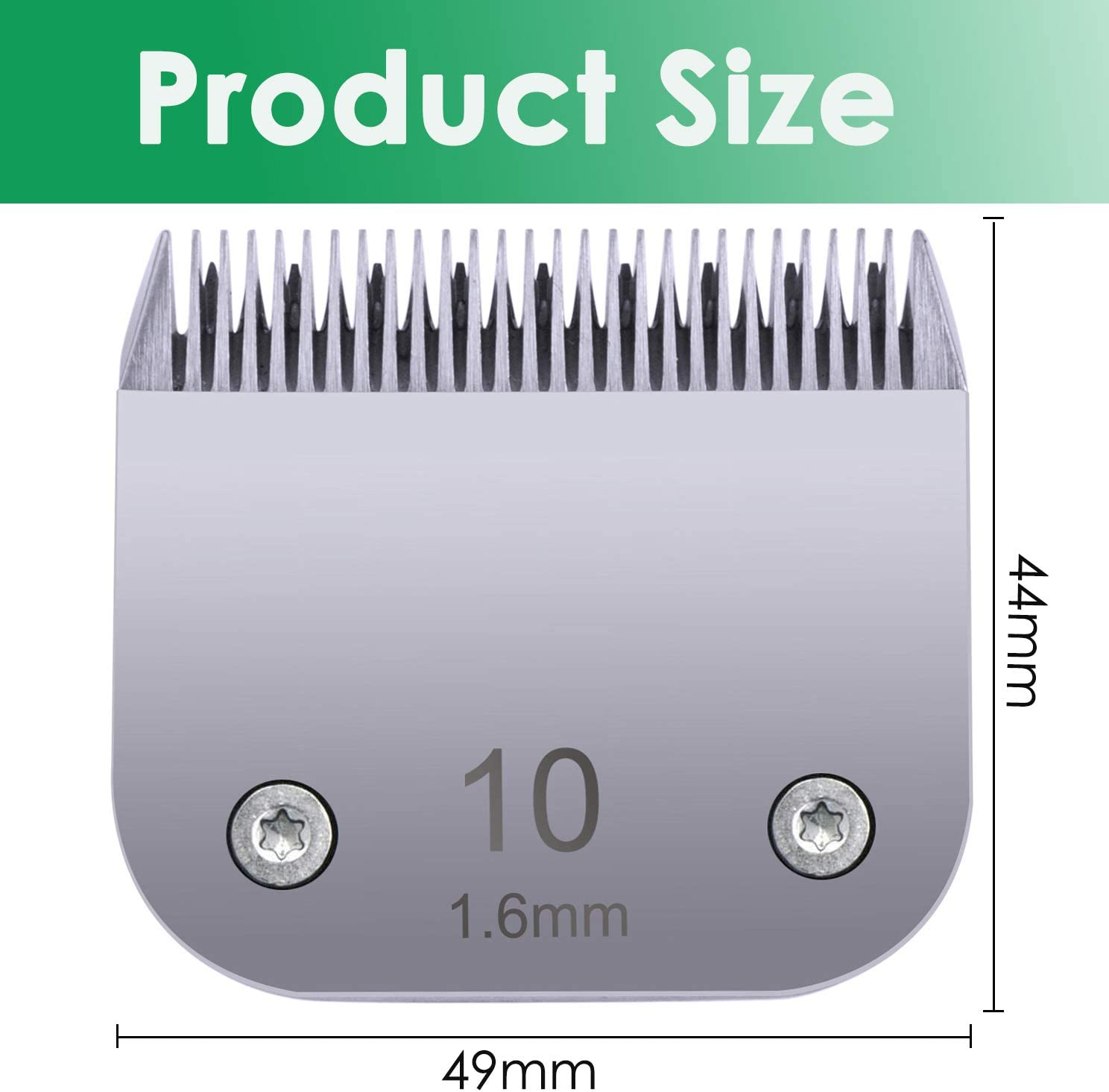10 Blade Compatible with Oster//Andis Detachable Clipper for Dog Grooming Clipper Blade Replacement Compatible with Wahl KM10 KM5 KM2