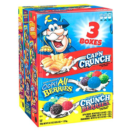 Cap N Crunch Sweetened Corn Oat Cereal Variety Pack 54 1 Ounce Buy Online In Bosnia And Herzegovina Cap N Crunch Products In Bosnia And Herzegovina See Prices Reviews And Free All berries for a berrylicious experience. desertcart