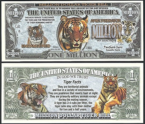50 Panda Endangered Animal One Million Dollar Bill Lot