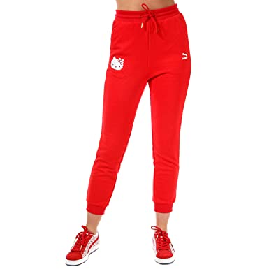 b2322f165842d Puma Womens X Hello Kitty Track Pants in Red: Puma: Amazon.co.uk ...