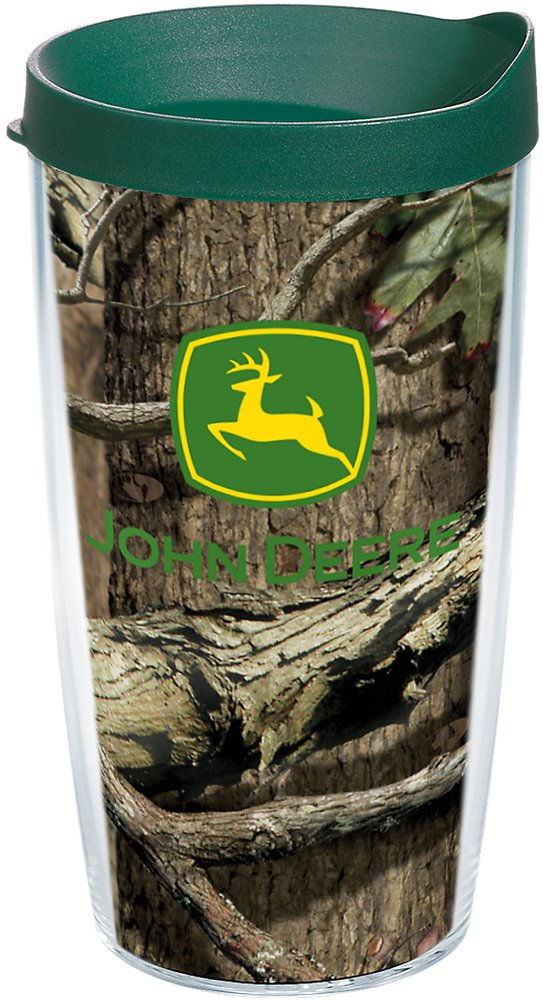 Mossy Oak Tumbler with Wrap and Hunter Green Lid 24oz Tervis 1181319 John Deere Clear