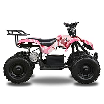 Amazon jcmoto electric 4 four wheelers atv mini quad for kids jcmoto electric 4 four wheelers atv mini quad for kids 6quot tire 24v 500w fandeluxe Gallery