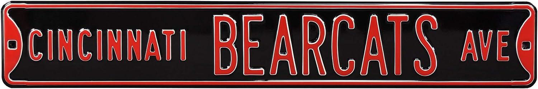 Steel Street Sign Authentic Street Signs Cincinnati Bearcats Ave 36 x 6 Heavy Duty