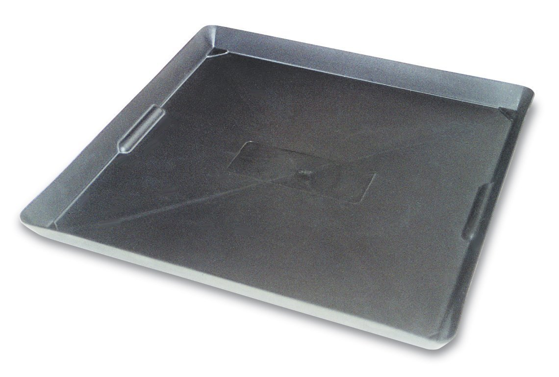 WirthCo 40092 Funnel King Drip Tray - Black 22'' x 22''x 1.5'' (Quantity 4)