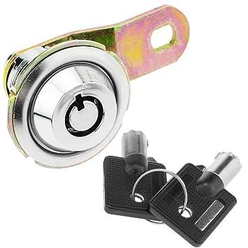 PrimeMatik - Cerradura de Leva de 42 mm x M18 con Llave Tubular: Amazon.es: Electrónica