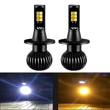 Diesel AutoZone H7 Led Bombillas de Luz de Niebla 35W 3800LM 6000K Luz Blanca/3000K