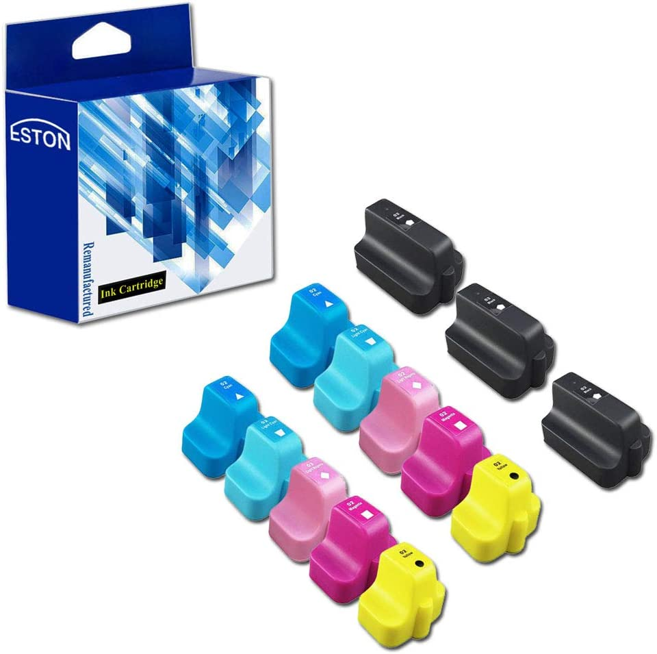 13 For HP 02 Remanufactured Ink Cartridges: Three Black and Two Each of Cyan, Magenta, Yellow, Light Cyan and Light Magenta