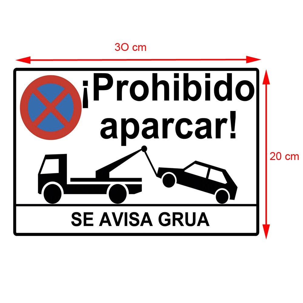 Cartel prohibido aparcar o placa prohibido aparcar. Esta Placa se ...