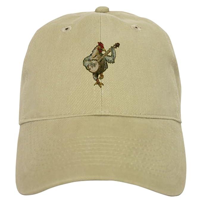 Amazon.com  CafePress - Banjo Chicken - Baseball Cap with Adjustable ... 636cd582ea96