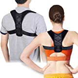 "Taisk Posture Corrector, Posture Back Brace for Men and Women- Comfortable Upper Back Brace Clavicle Support Device for Thoracic Kyphosis and Shoulder - Black28""-45"