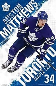 Toronto Maple Leafs Auston Matthews 16 Poster Print 22 X 34 Amazon Ca Home Amp Kitchen