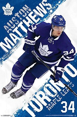 Toronto Maple Leafs - Auston Matthews 16 Poster Print (22 x 34)