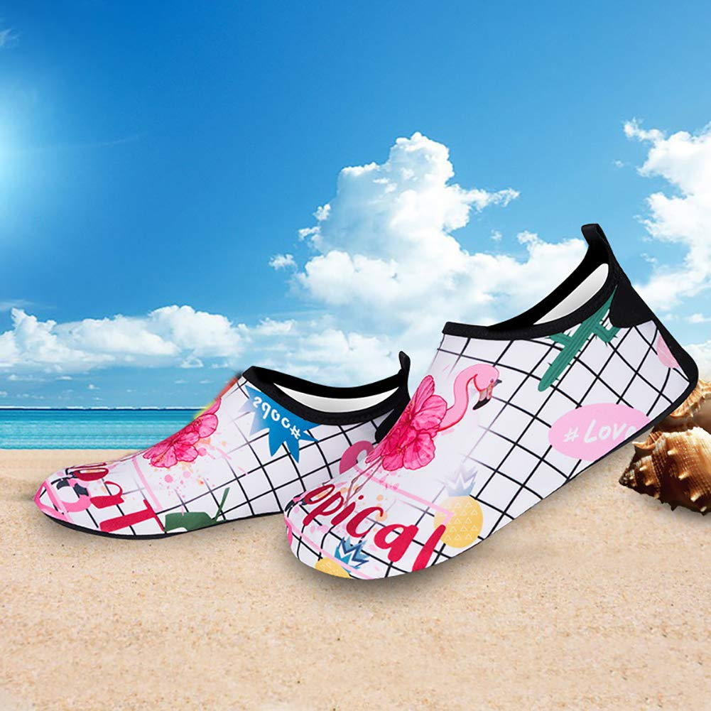 MCERMR Womens Water Sport Shoes Pool Gym Shoes Barefoot Beach Shoes for Outdoor Beach Swim Surf Yoga Exercise