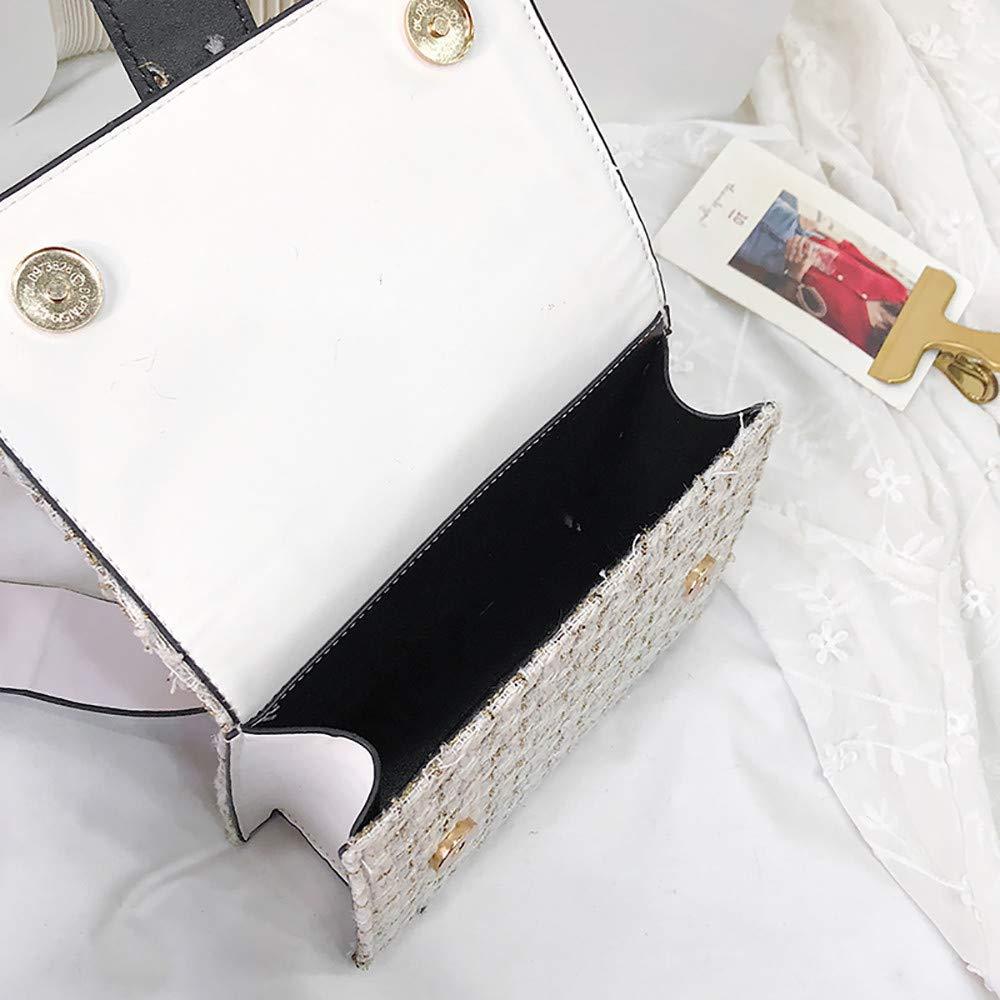 Women Tweed Crossbody Purse Handbags Designer Top Handle Clutch Tote purses Messenger Bag: Handbags: Amazon.com