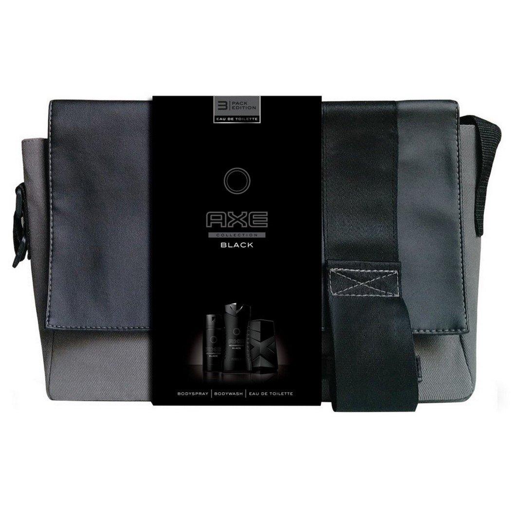 Axe Coffret Cadeau Sacoche Black Eau de Toilette Déodorant avec Gel Douche pour Homme