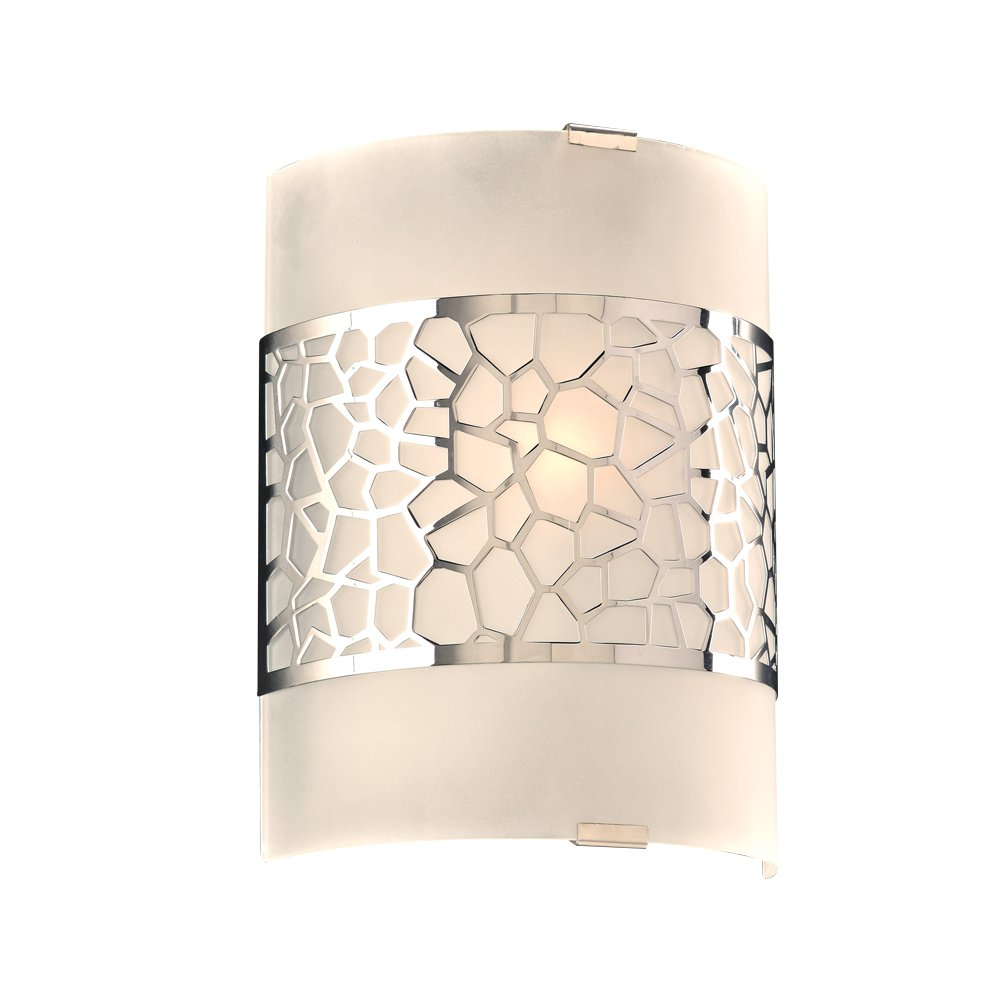 PLC Lighting 7583PC 1 Light Siena Collection Wall Sconce