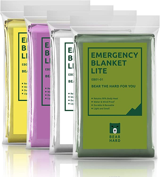 gold /& 130/×210cm JIUY Waterproof Emergency Survival Blanket Outdoor wild rescue blanket Sunscreen blanket durable portable