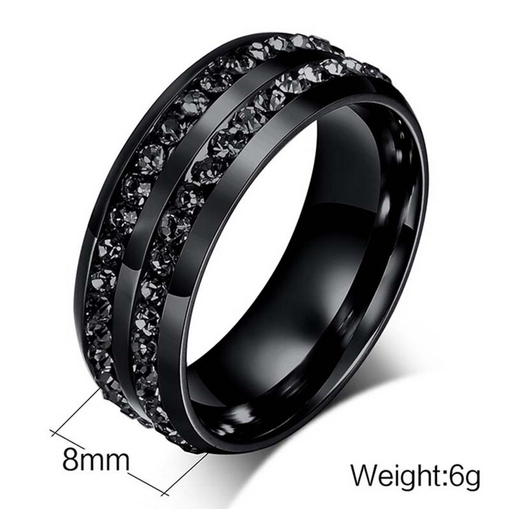 Gy Jewelry Couple Ring His Hers Women Black Gold Filled Cz Men Stainless Steel Bridal Sets Wedding Band by Gy Jewelry (Image #6)