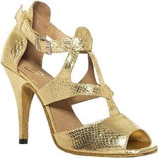 CFP Jj-7008pour Femme Latin Tango Chacha Piste de Danse Talon 10,2cm Chaussures de Danse