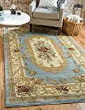 Unique Loom Versailles Collection Light Blue 11 x 16 Area Rug (10' 6'' x 16' 5'')
