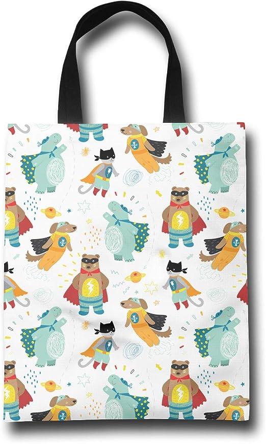 Animal Shopping Bags Eco Tote Reusable Flexible Foldable Handbag Grocery Storage