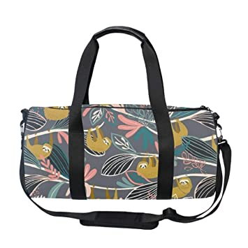 322fb82e00924d Amazon.com | Gym Bag Naughty Sloth Sports Travel Duffel Lightweight Canvas  Bag | Sports Duffels