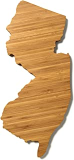 """product image for AHeirloom: The Original New Jersey State Shaped Serving & Cutting Board. (As Seen in O Magazine, Good Morning America, Real Simple, Brides, Knot.) Made in the USA from Organic Bamboo, Large 15"""""""
