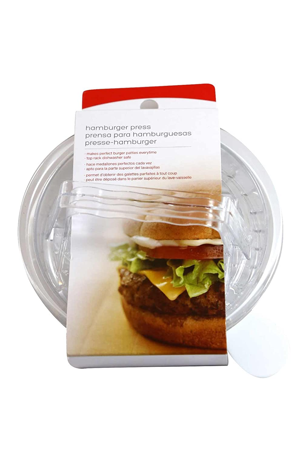 Good Living Plastic Circle Hamburger Press for the Perfect Burger Shape Every Time, 1-pack