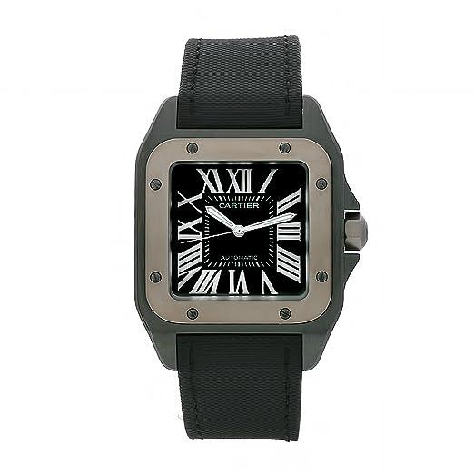 Cartier W2020010 - Reloj de Pulsera Hombre, Color Negro: Amazon.es: Relojes
