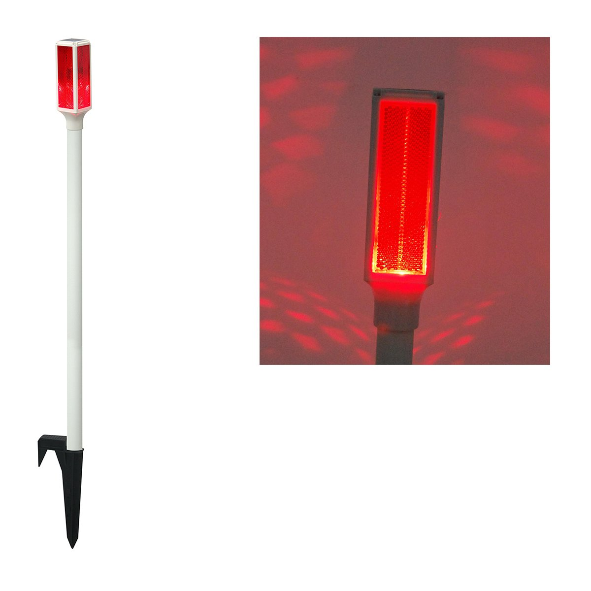 Solar LED Red Driveway Marker Stake Light